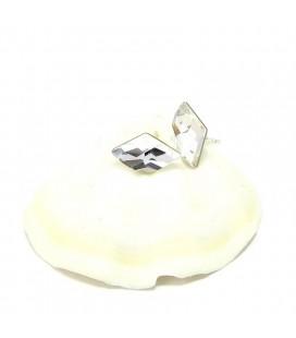 925 ezüst, Swarovski kristályos rombusz fülbevaló