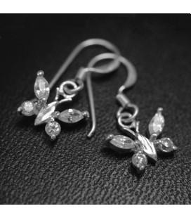 925 ezüst pillangó fülbevaló
