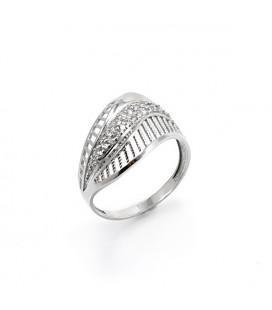 Jégvirág, elegáns gyűrű ezüstből - ovális