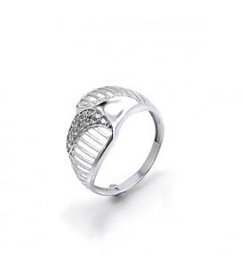 Elegáns, CZ kristályos gyűrű 925 ezüstből