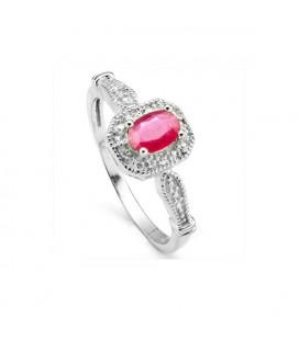 Rubin köves 925 ezüst gyűrű