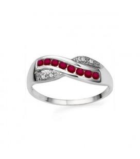 Rubin köves gyűrű, 925 ezüstből