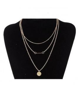 3 rétegű, aranyszínű bizsu nyaklánc