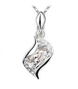 Fehér kristályos csavart nyaklánc