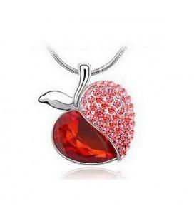 Piros alma medál nyaklánccal