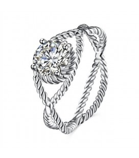 Kristályszem, 925 sterling ezüst gyűrű cirkóniával
