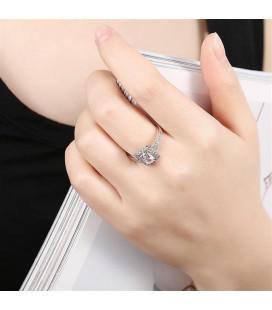 925 sterling ezüst gyűrű cirkónia kövekkel