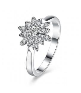 925 sterling ezüst jégvirág gyűrű cirkónial