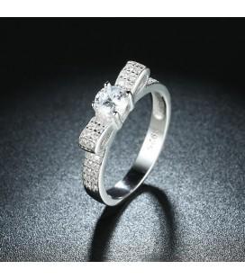 925 sterling ezüst masni gyűrű hófehér cirkóniával