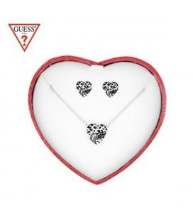 GUESS karkötő, Swarvoski kristályos szív charmmal