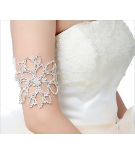 Kristályvirág, elegáns esküvői többfunkciós karkötő