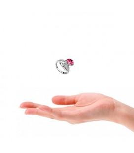 Pink köves tulipán gyűrű