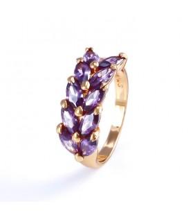 Elegáns gold filled gyűrű - Lila Olajág