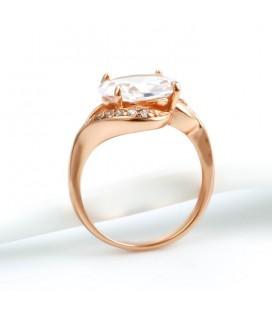 Elegáns gold filled gyűrű - Rózsaarany
