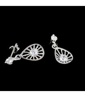 Különleges, 925 ezüst fülbevaló, cirkónia kövekkel