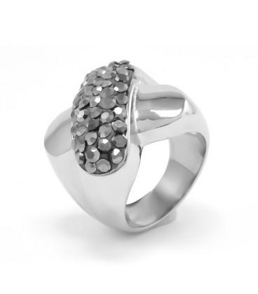 ékszer webshop Crystal X nemesacél gyűrű