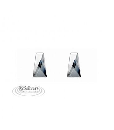 ékszer webshop 925 ezüst, Swarovski kristályos fülbevaló - Wing