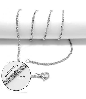 ékszer webshop Csavart nemesacél nyaklánc (45 cm)