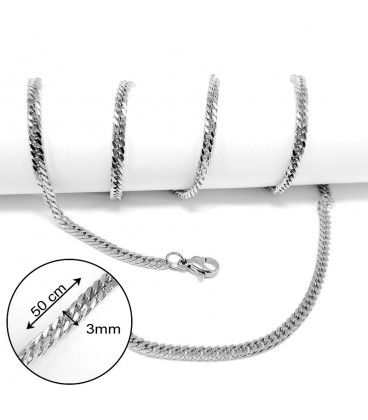 ékszer webshop Laposszemes nyaklánc nemesacélból (50 cm)