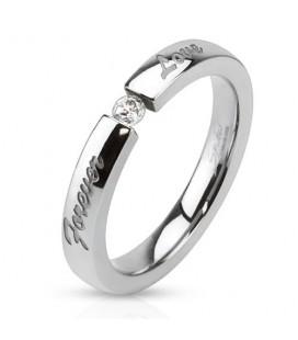 Nemesacél gyűrű Love felirattal