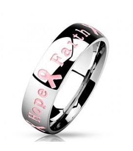 Nemesacélból készült gyűrű - Remény szalagja