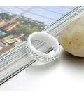 ékszer webshop Exkluziv kerámia gyűrű CZ kristállyal díszítve -