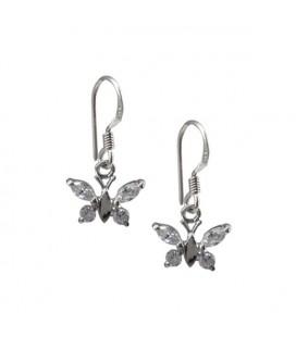 Pillangó fülbevaló 925 ezüstből