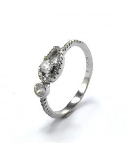 Ezüst védelmező angyalszárny gyűrű