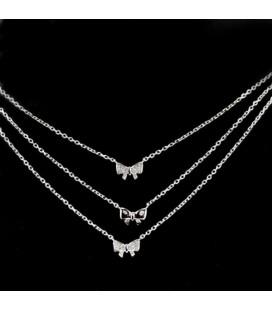 Masnikkal díszített, 3 részes ezüst nyaklánc