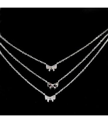 ékszer webshop Masnikkal díszített, 3 részes ezüst nyaklánc