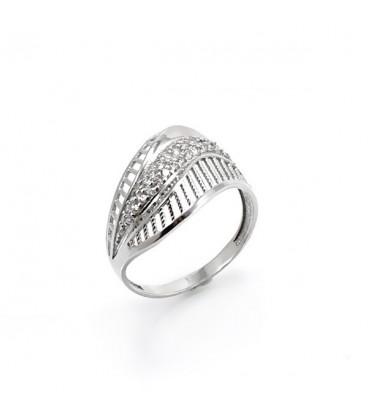 ékszer webshop Elegáns, CZ kristályos ezüst gyűrű
