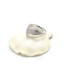 Elegáns, CZ kristályos ezüst gyűrű