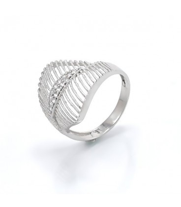 ékszer webshop Elegáns, CZ köves gyűrű 925 ezüstből