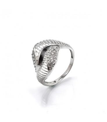 ékszer webshop CZ köves, elegáns gyűrű 925 sterling ezüstből