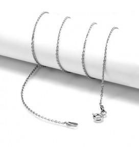 ékszer webshop Sterling ezüst nyaklánc ródium bevonattal - 45 cm