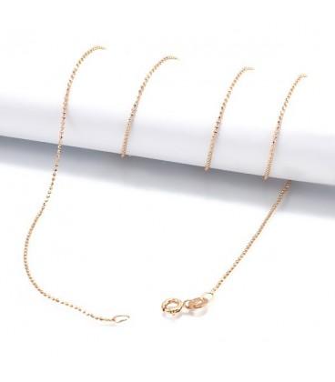 ékszer webshop Sterling ezüst nyaklánc, arany bevonattal - 50 cm