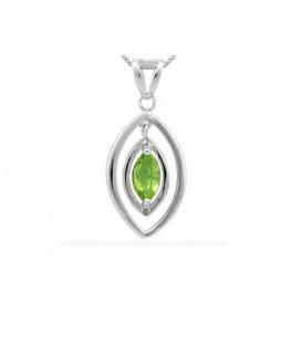 925 ezüst medál olivin drágakővel