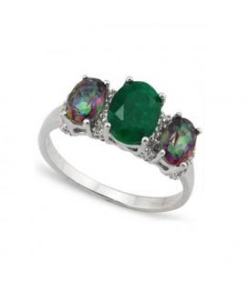 925 ezüst gyűrű smaragddal