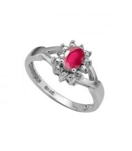 ékszer webshop Rubin köves 925 ezüst gyűrű
