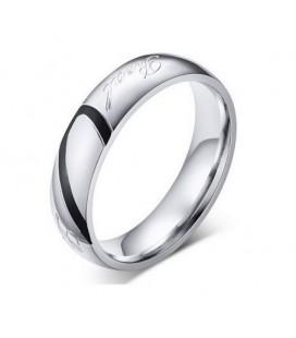 ékszer webshop Férfi karikagyűrű felirattal, nemesacélból