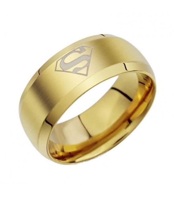 Superman - fekete, férfi nemesacél gyűrű