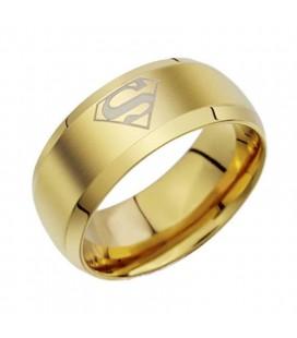 ékszer webshop Supergirl - aranyozott, női nemesacél gyűrű