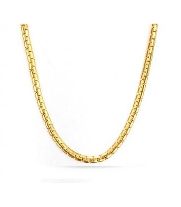 ékszer webshop Nemesacél arany kígyó nyaklánc (60 cm)