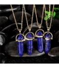 ékszer webshop Kristálymedál kék kővel