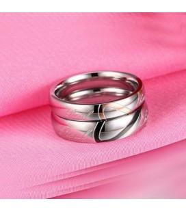 ékszer webshop Női karikagyűrű felirattal, nemesacélból