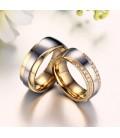ékszer webshop Exkluzív férfi karikagyűrű nemesacélból, arany
