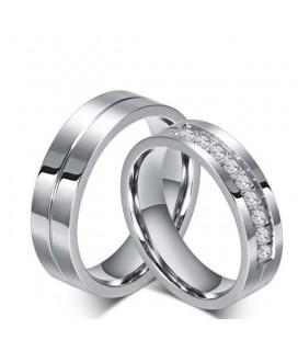 Klasszikus stílusú nemesacél női karikagyűrű