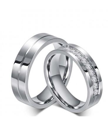 ékszer webshop Nemesacél női karikagyűrű