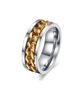 Arany láncos női gyűrű nemesacélból
