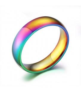 ékszer webshop Szivárnány színű nemesacél gyűrű